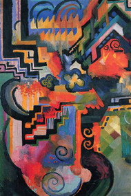 Colored Composition Homage Sebastian Bach by Macke