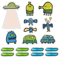 Doodle Jump Classic Special Set of 17 Wall Graphics (12 inch - 24 inch)
