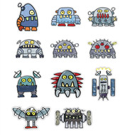 Doodle Jump Robot Monsters Super Set of 11 Wall Graphics (12 inch)