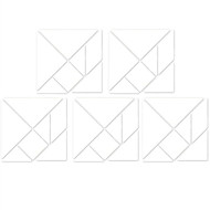 SPECIAL EDITION White Matte Wall Tangrams (Set of Five 12 Inch)