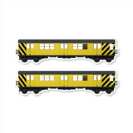"All City Style Work Train: Set of Two 24"" x 6.5"" Premium Blank Classic Train Wall Graphics"