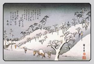 Evening Snow in Asakusa by Hiroshige