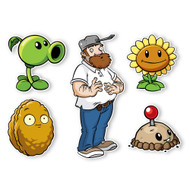 Plants vs. Zombies 2 Wall Decals: Special Front Yard Plants Set II (Five 4 to 8 inches longest side)