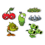 Plants vs. Zombies 2 Wall Decals: Special Pirate Seas Plants Set I (Six 5.25 to 7 inches longest side)