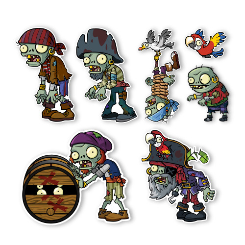 Plants Vs Zombies 2 Wall Decals Special Pirate Seas