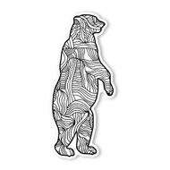 Begsonland Grizzly Bear Doodle Decal