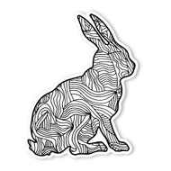 Begsonland Rabbit Doodle Decal