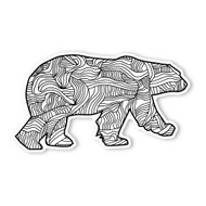 Begsonland Polar Bear Doodle Decal