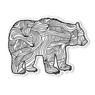 Begsonland Brown Bear Doodle Decal