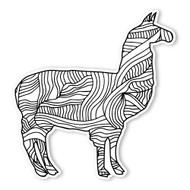 Begsonland IIama Doodle Decal
