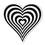 Begsonland Optical Heart Doodle Decal
