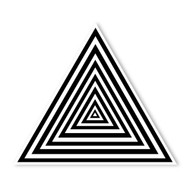 Begsonland Optical Triangle Doodle Decal