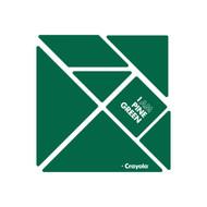 CrayoIa Wall Tangram: I AM Pine Green