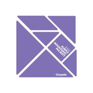 CrayoIa Wall Tangram: I AM Purple Mountains' Majesty