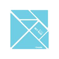 CrayoIa Wall Tangram: I AM Sky Blue
