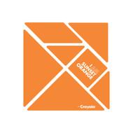 CrayoIa Wall Tangram: I AM Sunset Orange