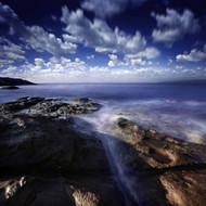 Rocky Shore With Tranquil Sea Portoscuso Sardinia Italy