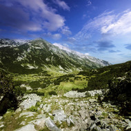 A Green Valley Through Pirin Mountains Pirin National Park Bulgaria