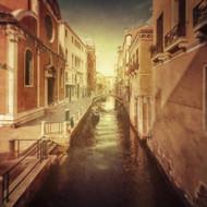 Vintage Shot of Venetian Canal Venice Italy by Evgeny Kuklev