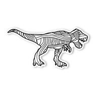 Begsonland Tyrannosaurus Rex Doodle Decal