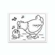 Crayola Coloring Wall Graphic: Mommy and Me General Chickens