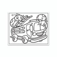Crayola Coloring Wall Graphic: Ladybug Firetruck