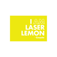 Crayola Colors Wall Graphic: I AM Laser Lemon