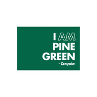 Crayola Colors Wall Graphic: I AM Pine Green