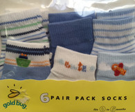 goldbug 6-Pair Crew Socks Pack