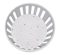 Pale Pink & Grey Spots