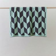 Linens 'n Things 'Billie' 100% Cotton Knit Geometric Baby Blanket