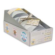 Weegoamigo Knitted Baby Blanket - Geo Charcoal