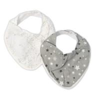 The Little Linen Company - Bib 2 Pack - Starlight Grey