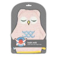 Weegoamigo  Bath Mitt - Pink Owl