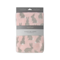 Little Linen Company Australia  Fleece Blanket - Rabbit Tail Pink