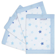 Airwrap  4 Sides Cot bumper - Star Blue
