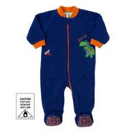 Snugtime POLAR FLEECE BLANKET SLEEPER 2.0 tog NAVY DINO