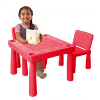 Jolly Kidz Plastic Table and Chairs - Red