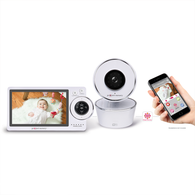 "Project Nursery 5"" HD Dual Connect Wi-Fi Baby Monitor System"