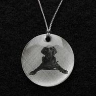 Black Labrador Retriever Pendant Necklace