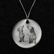 Dachshund Duo Pendant Necklace