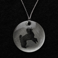 Poodle (Black) Pendant Necklace