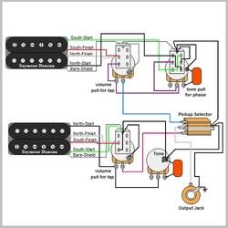 guitar wiring diagrams resources guitarelectronics com rh guitarelectronics com dimarzio wiring diagram les paul dimarzio wiring diagram humbucker