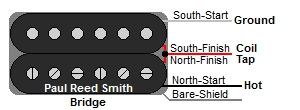 Paul Reed Smith 3 Wire Bridge Humbucker Color Codes