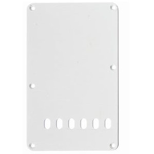 Strat Style Tremolo Spring Cover Plate-1Ply White