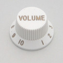 Strat & J-Bass Style Volume Knob w/ Coarse Splines-White