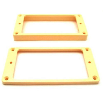 Humbucker Ring Set-Tapered w/ Flat Bottoms-Cream