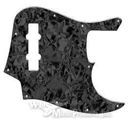 Mexican Standard Jazz Bass Pickguard-3Ply Black Pearl