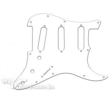 Strat 3 Single Coil Pickguard-3Ply White