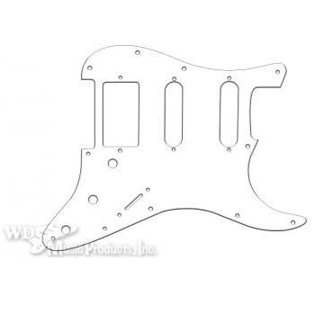 Strat Hum/Single/Single Pickguard-3Ply White